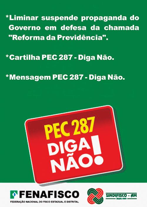 Liminar suspende propaganda da PEC 287