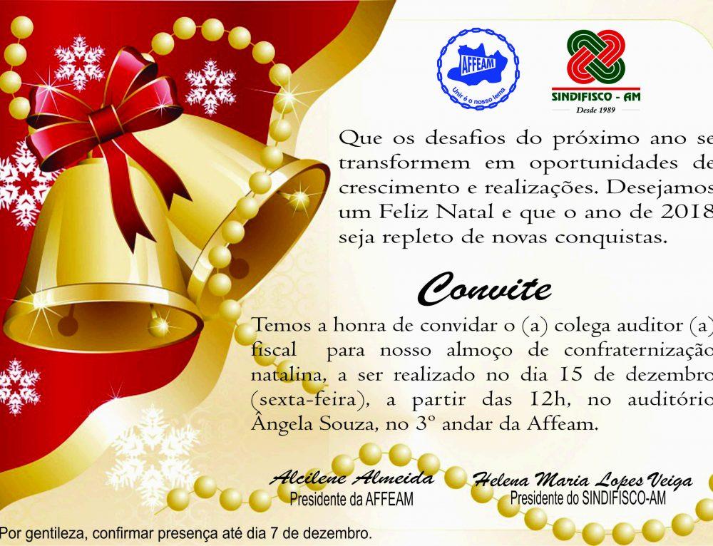 Convite Almoço de Confraternização Natalina dos Auditores Fiscais